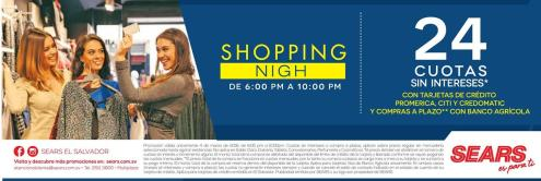 AHorA shopping night en SEARS el salvador