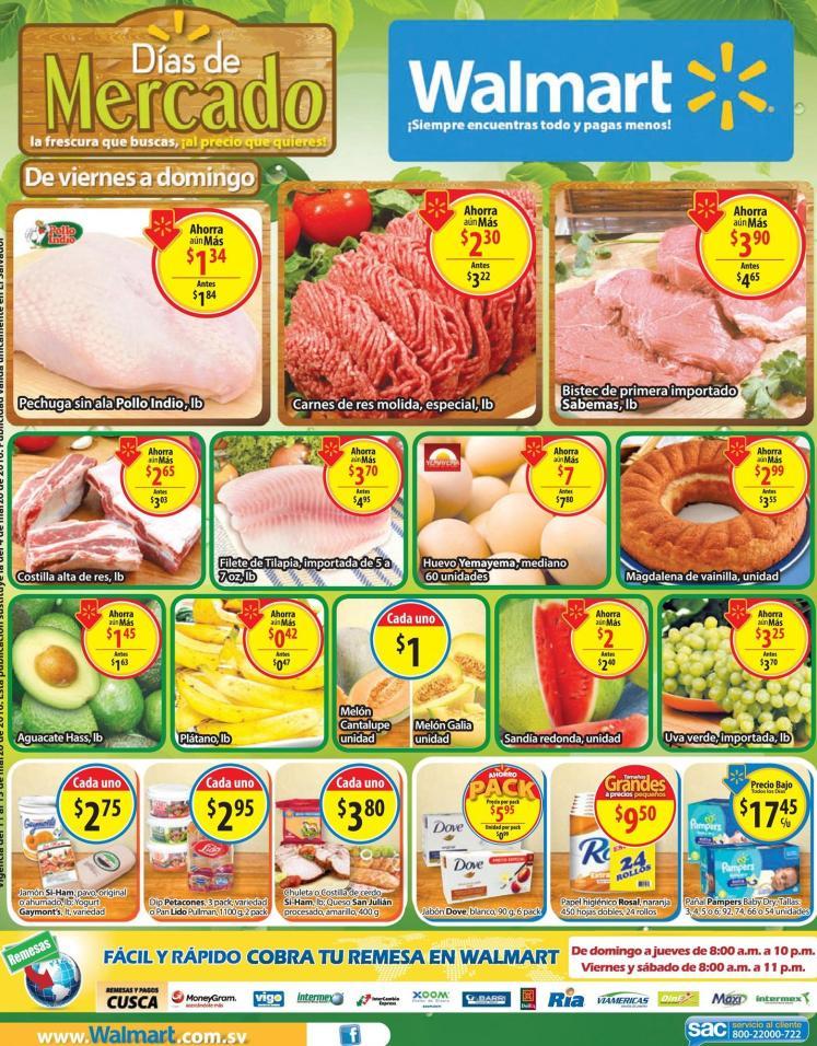 Aqui todos los precios bajos WALMART en frutas y verduras - 11mar16
