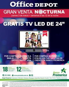 Banco promerica te invita a la GRAN VENTA nocturna en OFFICEDEPOT - 03mar16