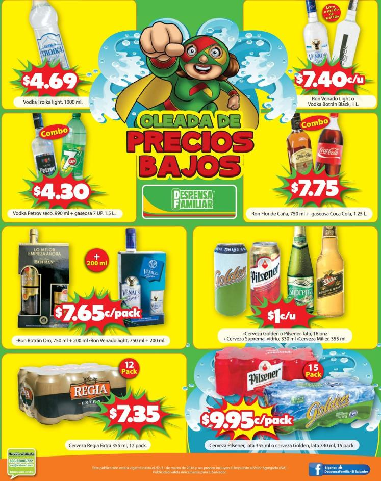 Ceverzas y Licores en ofertas en tu super la despensa familiar - 18mar16