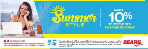 Descuentos en computadores via SEARS semana summer 2016