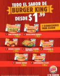 El sabor de verano BURGER KING desde 1 dolar 99 centavos