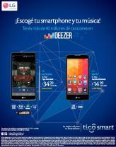 Escoge tu smartphone con musica stream DEESEr by TIGO