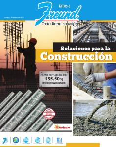 Folleto de ofertas en materiales de contruccion freund el salvador