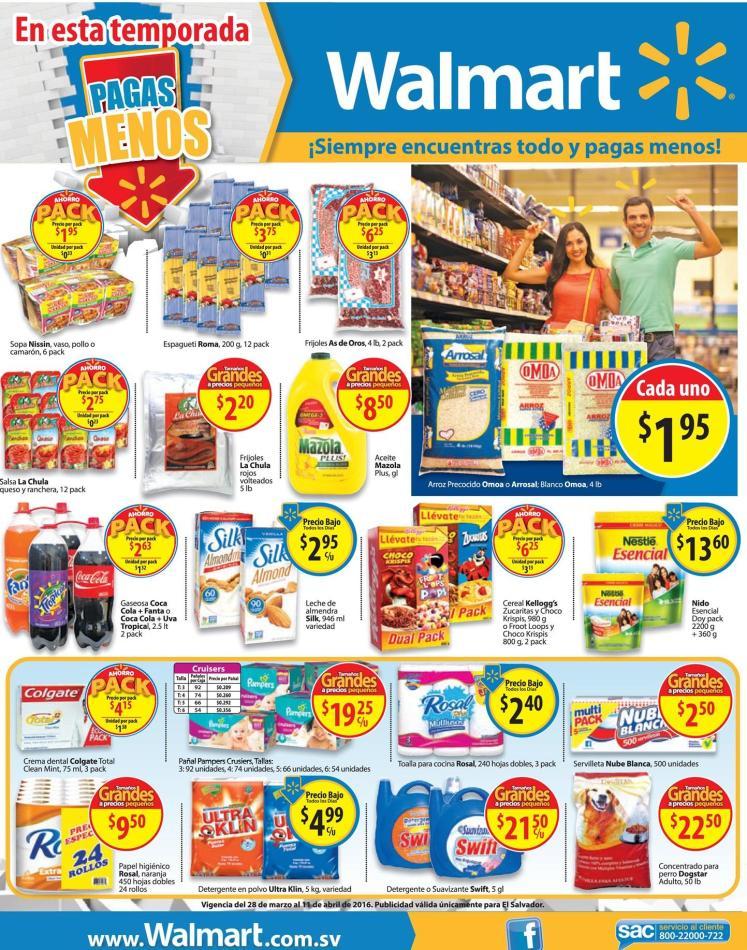 Los articulos de primera necesidad PACK de precios bajos WALMART