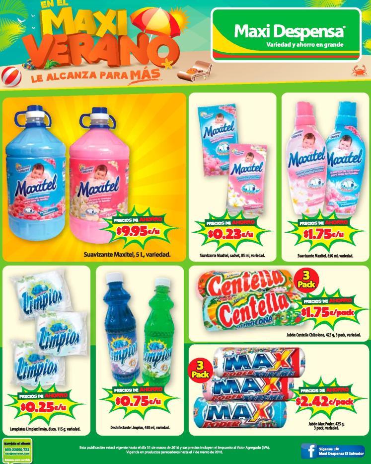 MAXI despensa promocion para lavar tu ropa sucia