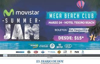 MEGA beach club MOVISTAR summer jam 2016