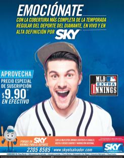 MLB extra innings season via SKY satellite television