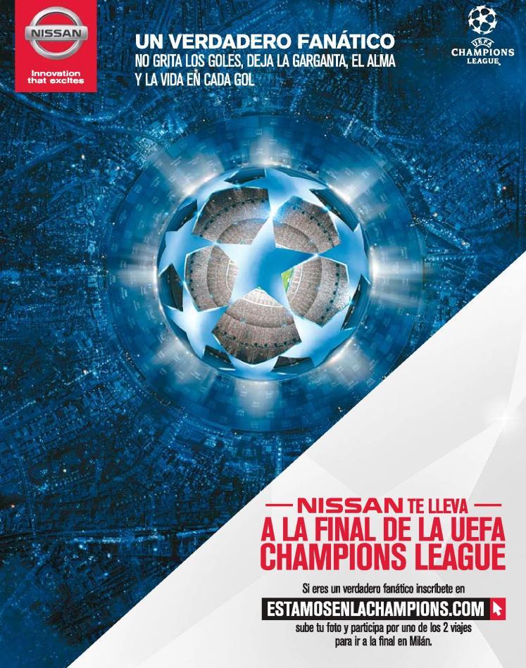 NISSAN te lleva a la final de la UEFA champion league