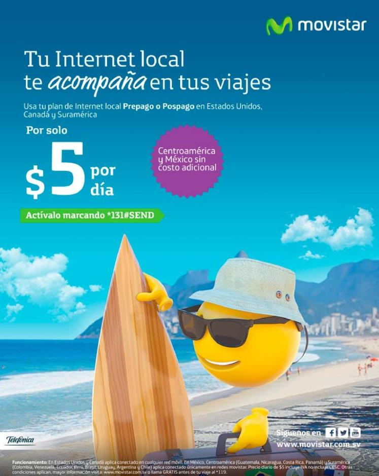 USA tu internet en toda la region lationamericana con MOVISTAR