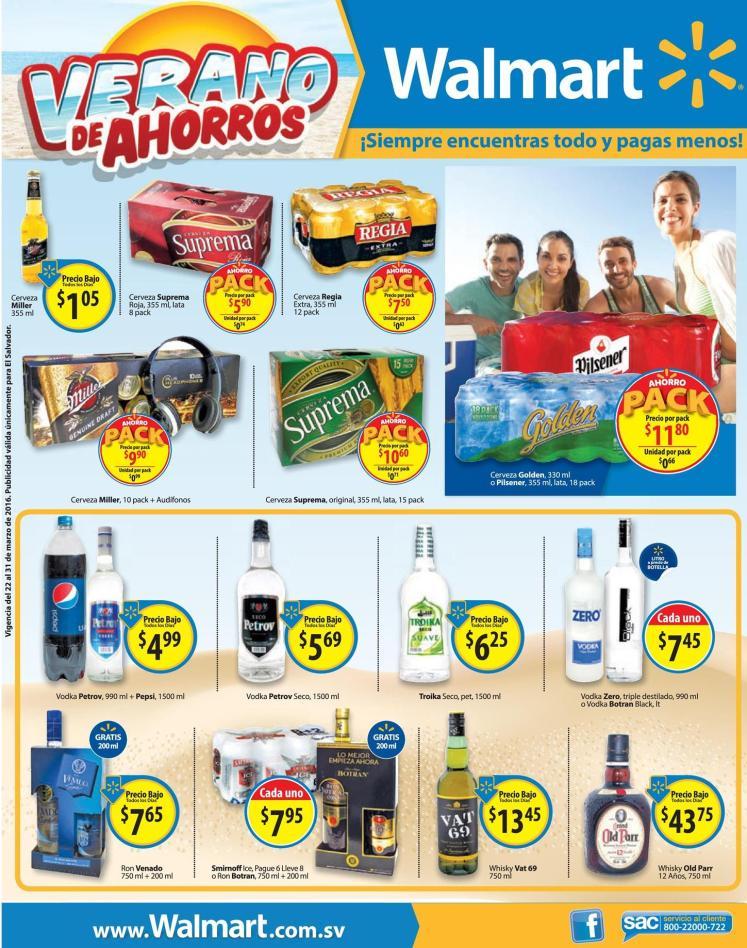 WALMART PACK de precios bajos en bebidas alcohollicas - 22mar16