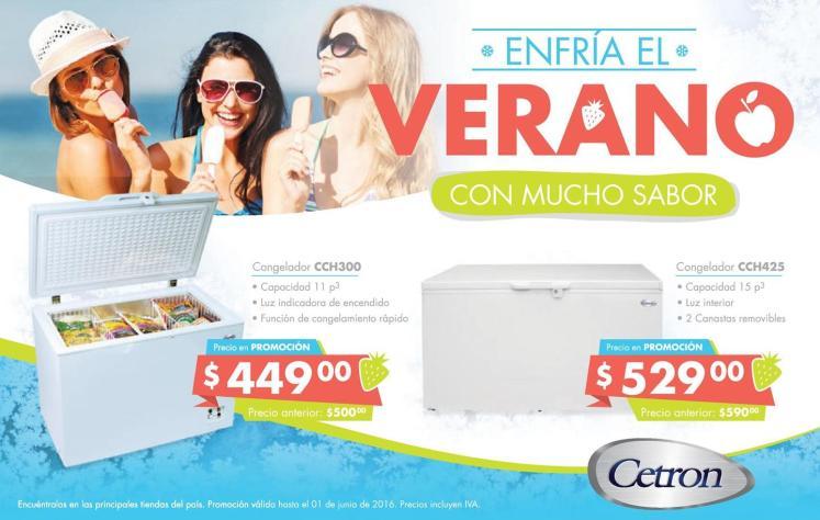 ofertas de verano en CeTRON congeladores