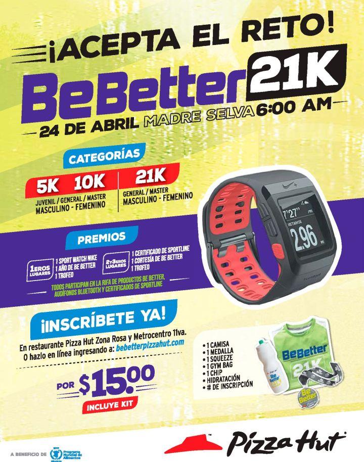 Aceptas el reto BEBetter 21K inscribete aqui
