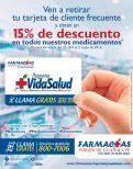 Adquiera la tarjeta de cliente frecuento de Farmacias Virgen de guadalupe
