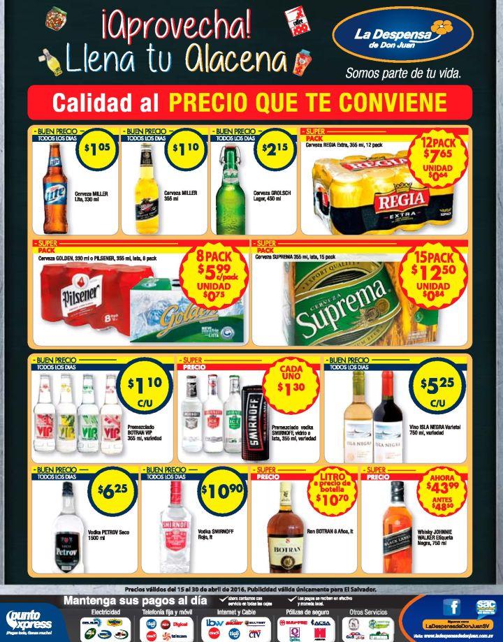 Cervezas Licores Tragos Despensa de Don Juan te los pone en oferta - 15abr16