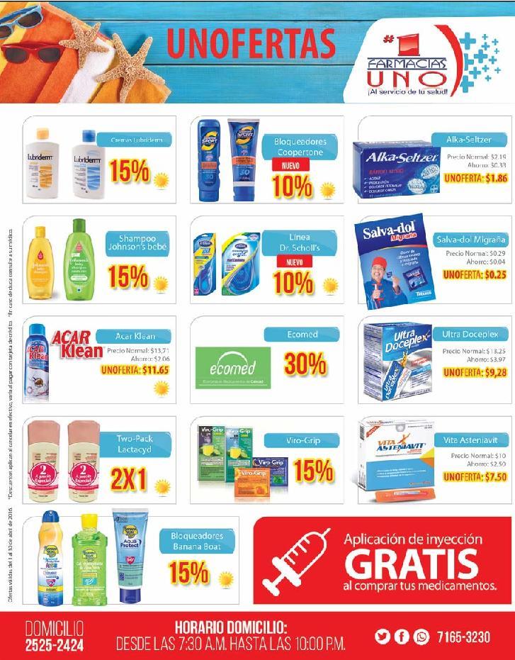 Descuentos y ofertas en medicamento de farmacias UNO