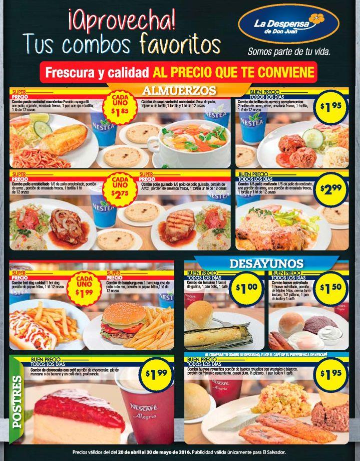 Despensa de DOn Juan Promociones de almuerzos y desayunos