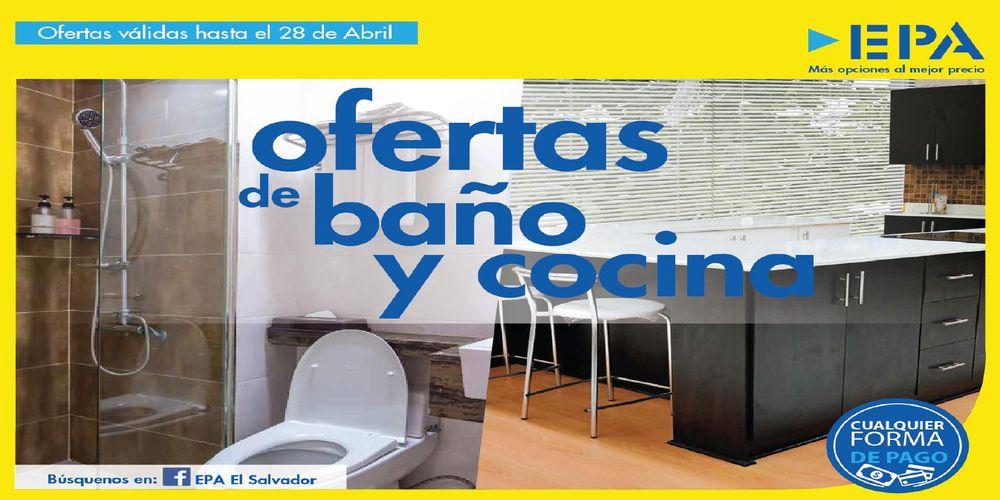 Catalogo EPA ofertas para baños y cocina (Abril 2016)