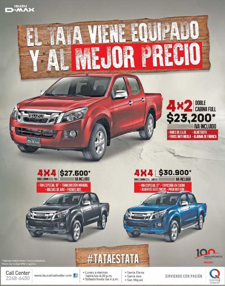 El pickup mas recio 4x4 IZUSU D-max