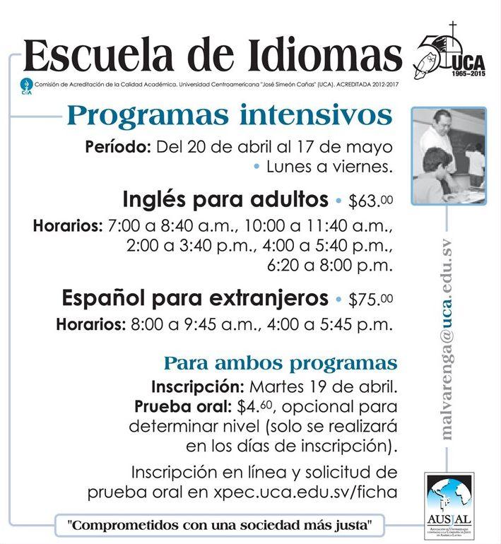 Escuela de idiomas UCA ingles para adultos