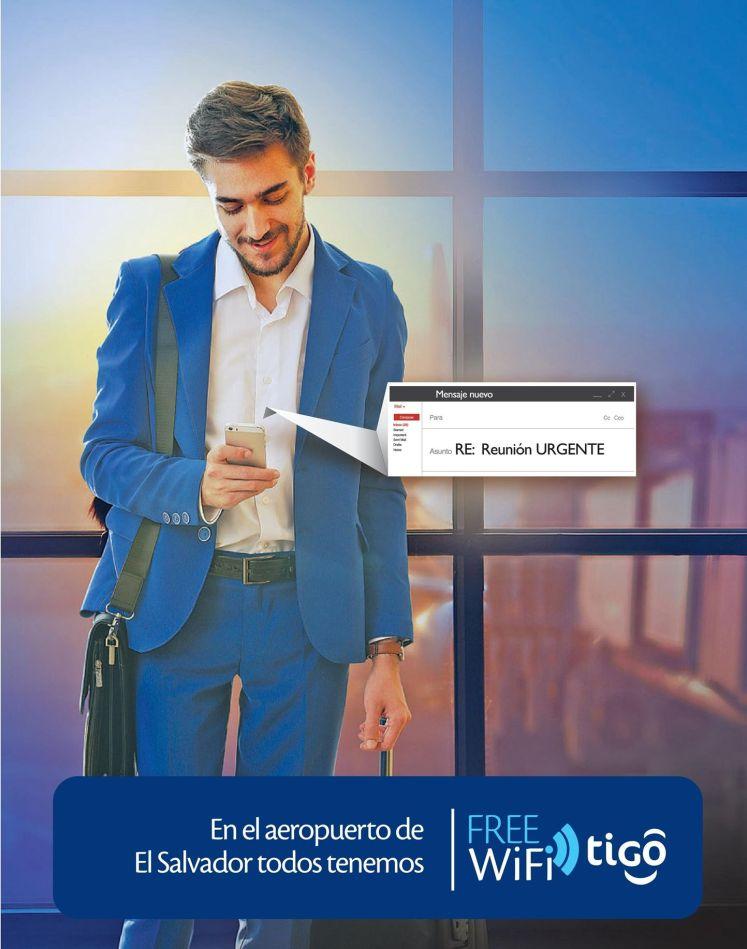 FREE wifi on AIRPORT el salvador power by TIGO