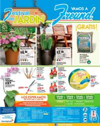 FREUND promociones en su festival del jardin - 01abr16
