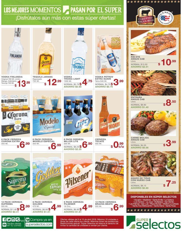 Fin de semana en el selectos rebajas en cervezas y licores - 09abr16