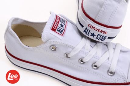 Lee Shoes zapatillas converser color blanco