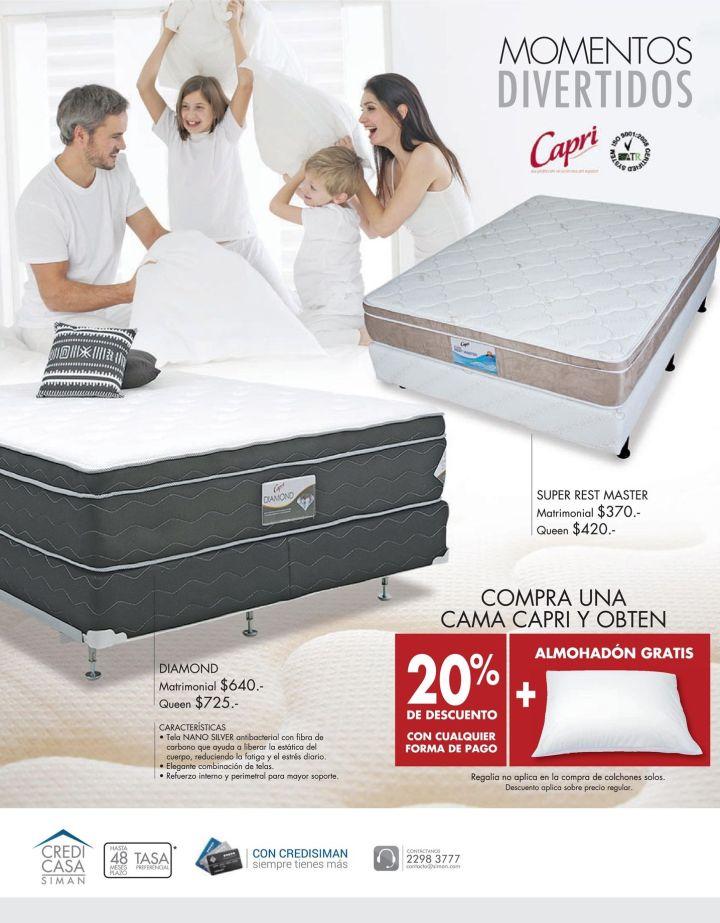 Momentos divertidos en cama con una cama CAPRI