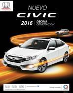NUevo HONDA civic 2016 decima generacion racing cars