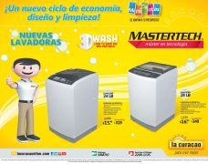 New washing machine MASTERTECH 3D wash technology