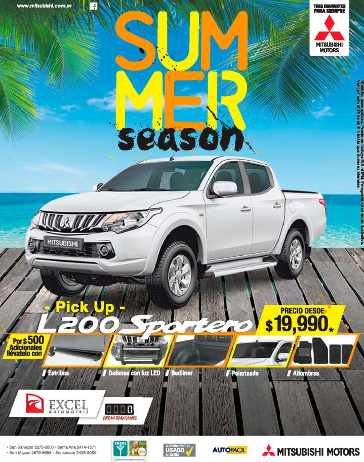 PICK UP L200 deals by mitsubishi motors el salvador