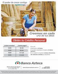Promocion para obtener tu credito personal en banco Azteca