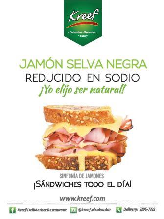 Sinfonia de sandwiches todo el dia KREEF sv