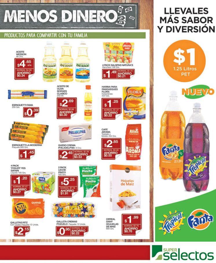 Super Selectos Fanta naranja y Uva Tropical por tan solo 1 dolar - 22abr16