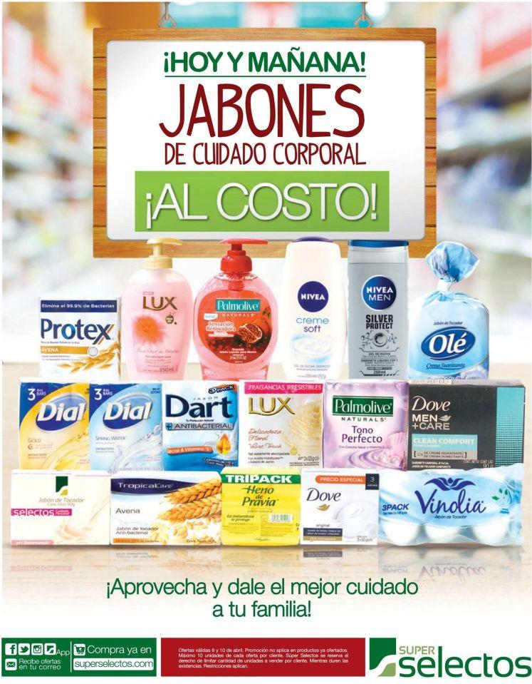 Super Selectos Fin de Semana JABONES de cuidado corporal al COSTO - 09abr16