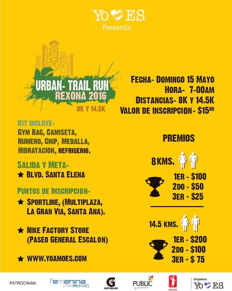 URBAN trail RUN event rexona 2016