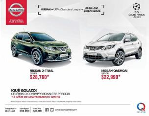 new NISSAN car XTRAIL and QASHQAI
