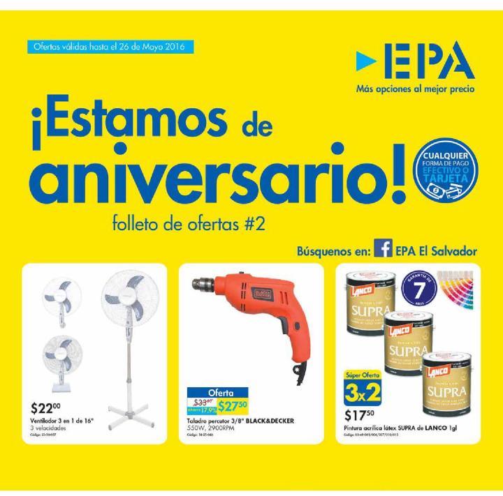 Busca todas las ofertas del aniversario 2016 de ferreteria epa
