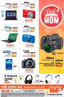 COOL gift for MOM camaras tablets laptops promociones RAF