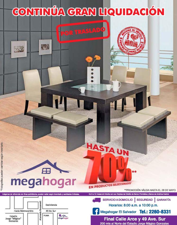 Continua la gran liquidacion de muebles en MEGA HOGAR store