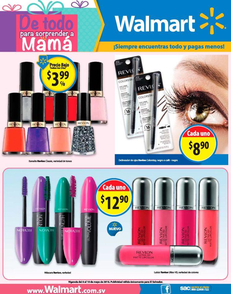 Cosmeticos con precios bajos en WALMART por dia de la madre 2016