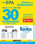 Festival de descuentos en llantas TODO INCLUIDO gracias a EPA y SCOTIABANK - 20may16