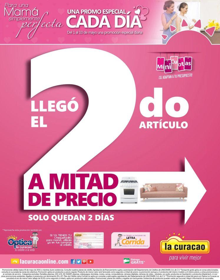 Fin de semama compra tu segundo articulo a mitad de precio en La Curcao