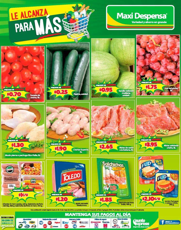 Frutas y verduras de fin de semana MAXI DESPENSA