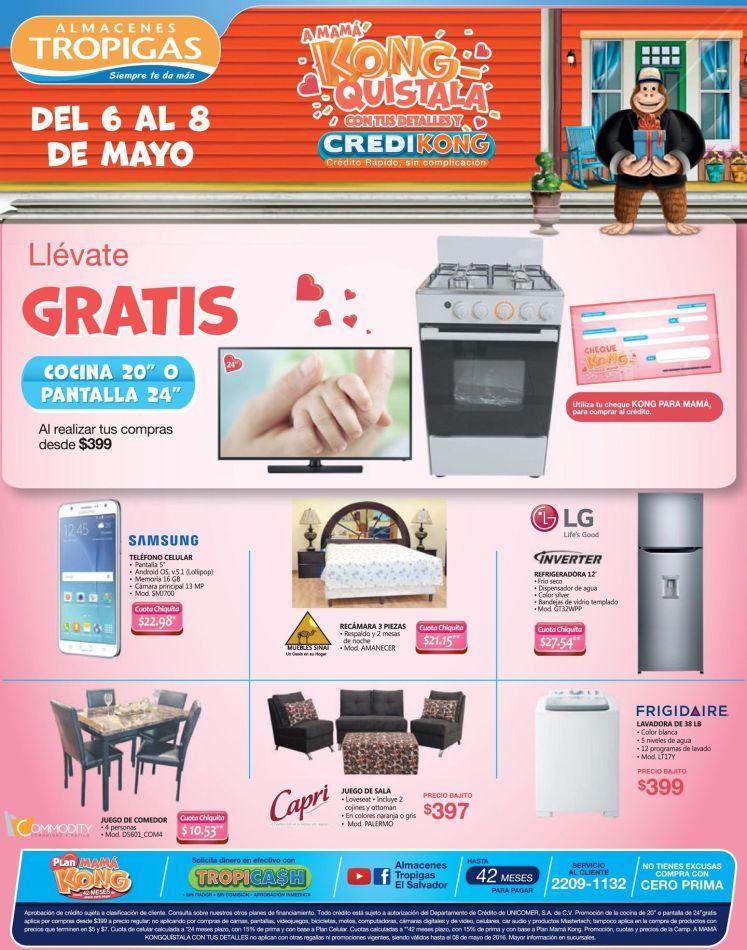 GRATIS por tus compras en Almacenes Tropigas una cocina o una TV