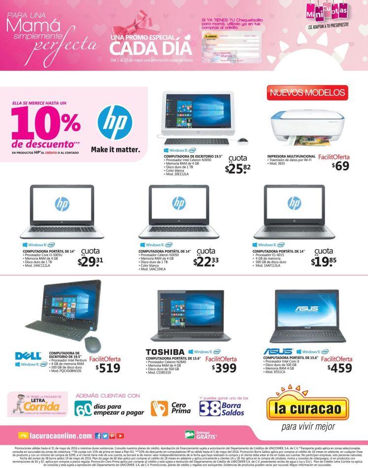 La promocion del dia en LA CURACAO computadoras y laptops - 03may16