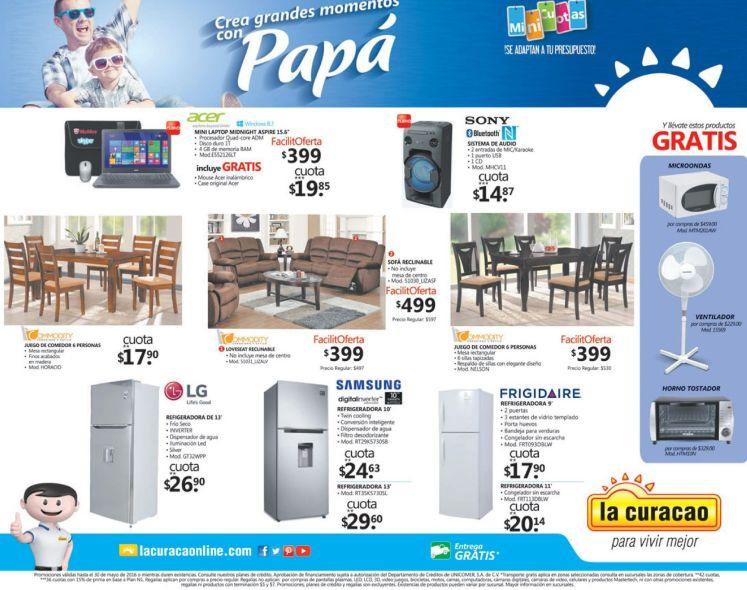 MUEBLES muy comodos con precios bajos en LA CURACAO para PAPA