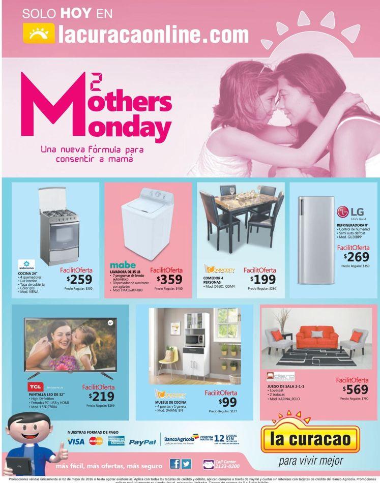 Mothers MONDAY ahora gracias a LA CURACAO online