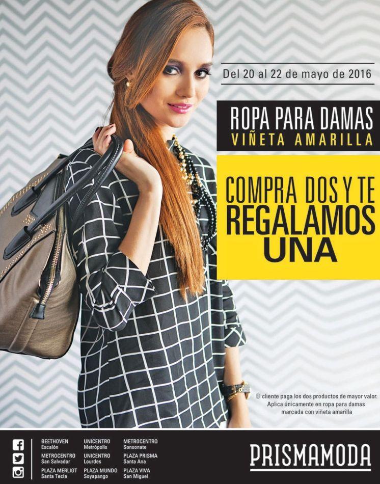 PRISMA MODA ofertas en ROPA para damas con viñeta amarilla - 20may16